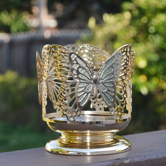 Bath and Body Works Butterfly 3-Wick Candle Holder